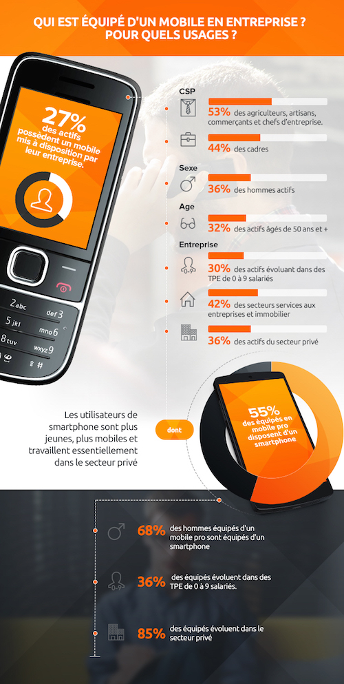 smartphone et ou tablette infographie d 39 orange pro it social m dia des enjeux it. Black Bedroom Furniture Sets. Home Design Ideas