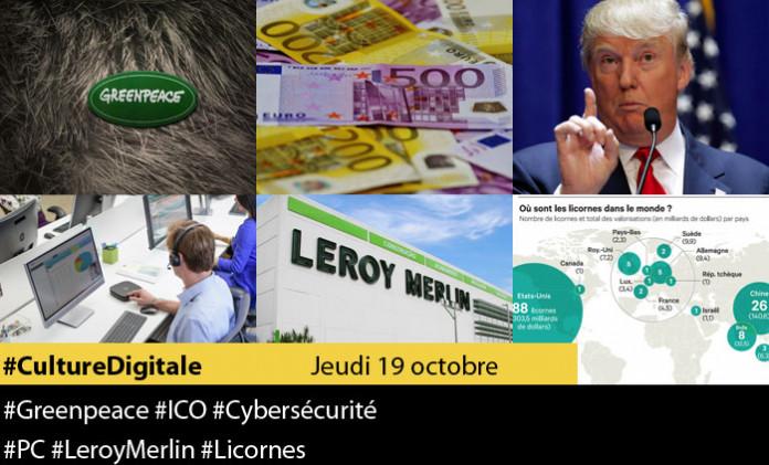 Culture digitale : 1 #greenpeace 2 #ico 3 #cybersécurité 4 #pc 5